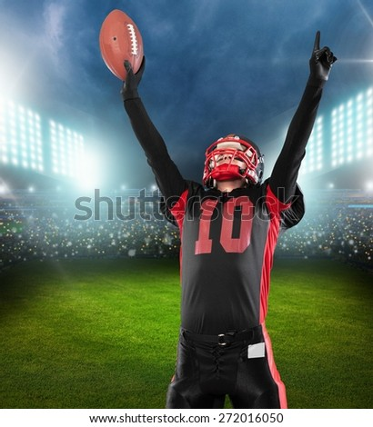 Football. Running Back with Clipping Path - stock photo