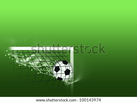 Football shot background with space (poster, web, leaflet, magazine)