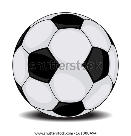 Football / soccer ball isolated on white background - stock photo