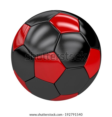 football (soccer ball) with german colors isolated on white. 3d render. illustration