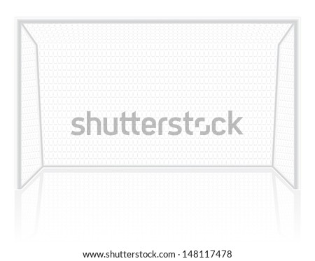 football soccer gates goalie illustration isolated on white background - stock photo