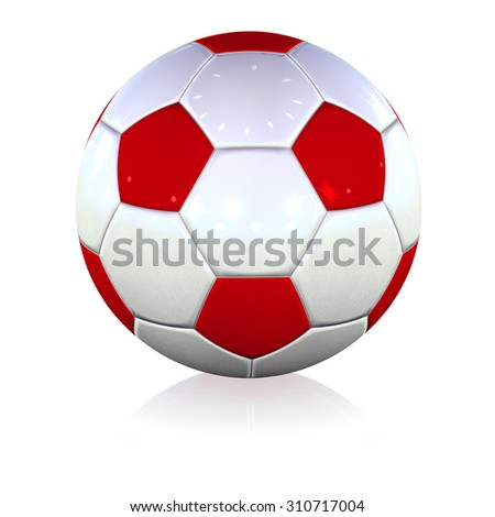 Football soccer white red