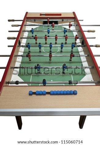 football table isolated on white (clipping path) - stock photo