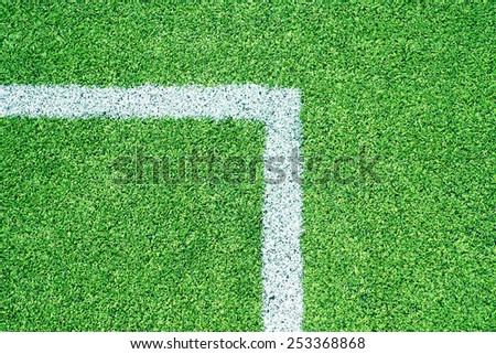 Football turf - stock photo