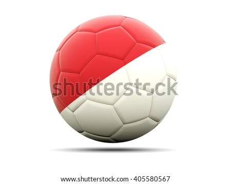 Football with flag of monaco. 3D illustration