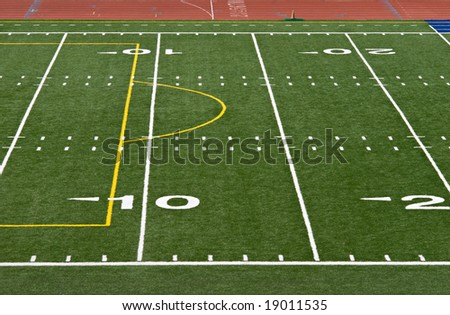 Football Yard Lines - stock photo