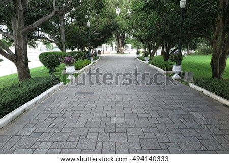 Foothpath in Bang Pa In Palace, Ayutthaya, Thailand