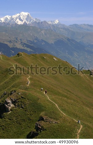footpath in mountain - stock photo