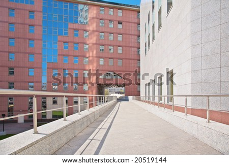 Footpath outside - stock photo