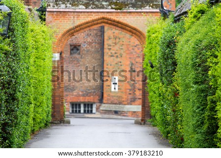 Footpaths of its majesty - stock photo