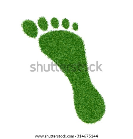 Footprint of grass. Stock image. - stock photo