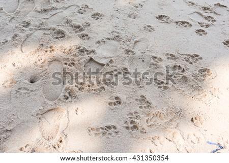 Footprints - stock photo