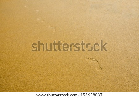 Footprints in the beach