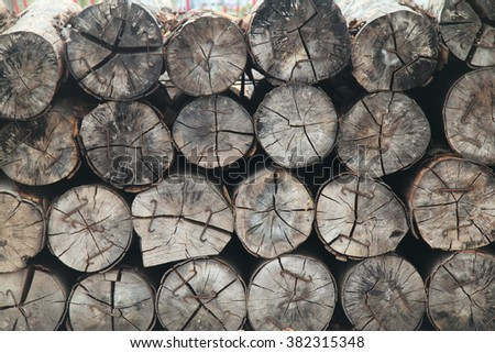 For a stack piled logs