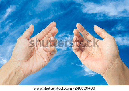 For blessings from God - stock photo