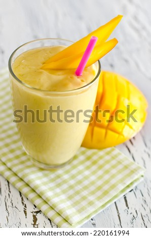 for breakfast in a glass selective focus - stock photo