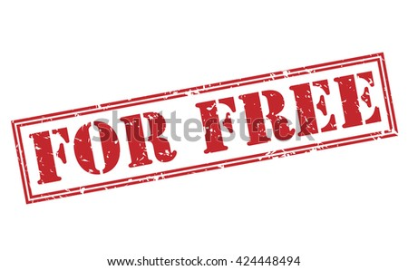 for free stamp - stock photo