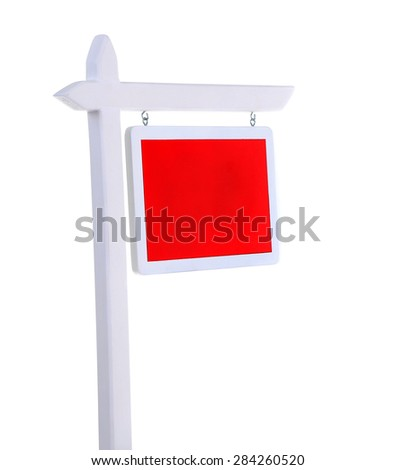 For sale sign isolated on white