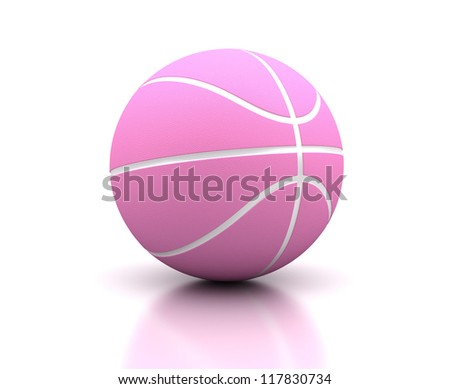 For woman basketball on white background (Computer generated image) - stock photo