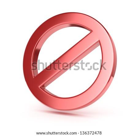 forbidden sign - stock photo