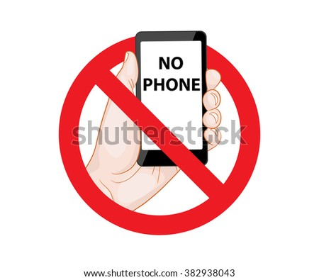 Forbidding Signs No Phone illustration