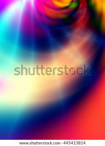 Force art colorful illustration modern background - stock photo