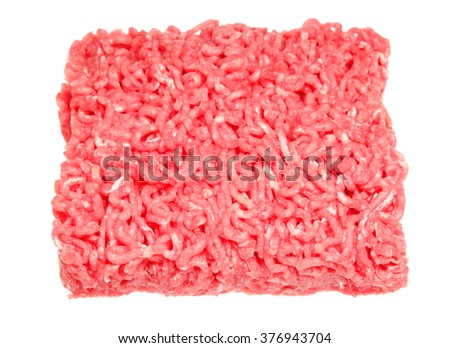 Forcemeat from beef it is isolated on a white background