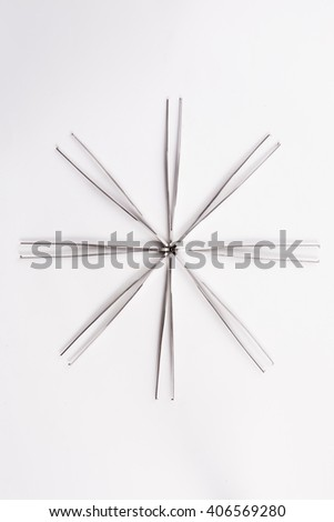 forceps isolated on the white background