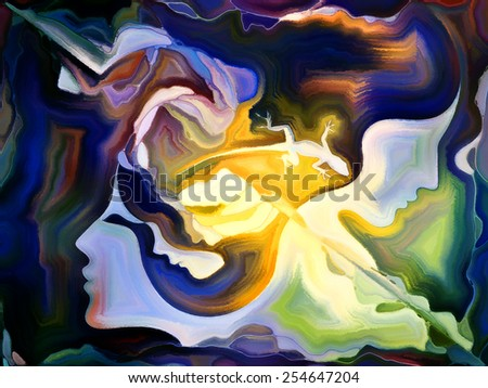 Forces of Nature series. Abstract design made of colorful paint and abstract shapes on the subject of modern art, abstract art, expressionism and spirituality - stock photo