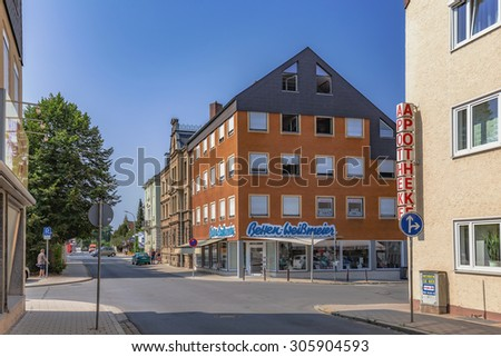 FORCHHEIM, GERMANY - AUGUST 12 2015: Forchheim Inner City with historical buildings