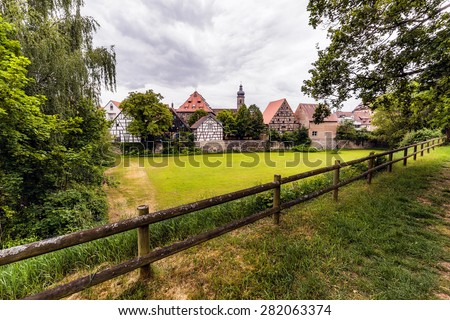 FORCHHEIM, GERMANY - MAY 27 2015: Forchheim City Panorama with dramatic sky