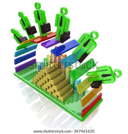 forecast business success - concept of business development in the design of information related to business and success - stock photo