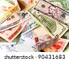 Foreign banknotes - stock photo