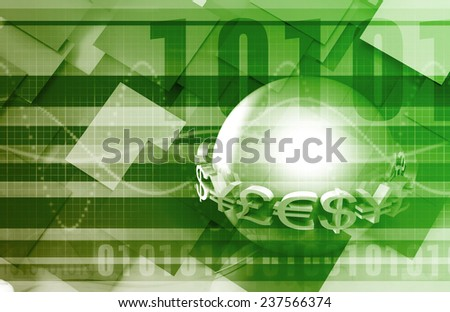 Foreign Exchange or Forex as a Web Concept - stock photo