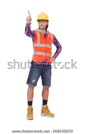 Foreman isolated on white - stock photo
