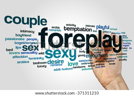 Foreplay word cloud - stock photo