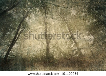 forest aged paper texture - stock photo