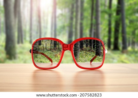 forest and glasses