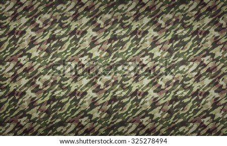 Forest Camouflage Background - a background with camouflage pattern in forest colors.  - stock photo