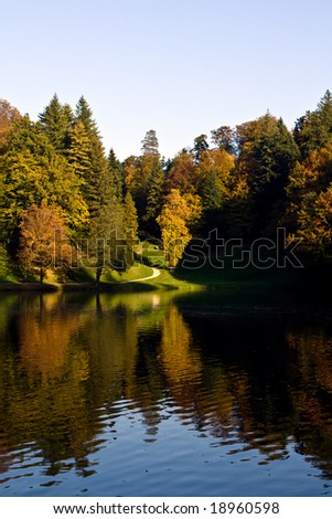 Forest in a park of castle Trakoscan, Croatia, Europe