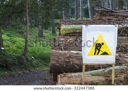 Forest industry and signal - stock photo