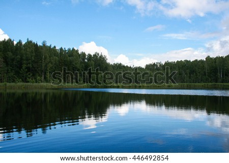 Forest lake in Russia