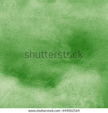 Forest, pine, basil green square watercolor background with stains. Hand drawn dark green watercolour summer texture. Nature, eco aquarelle template for cards, banners, posters.