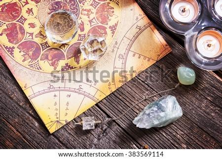 Foretelling the future through astrology - stock photo