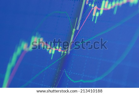 forex chart close up - stock photo