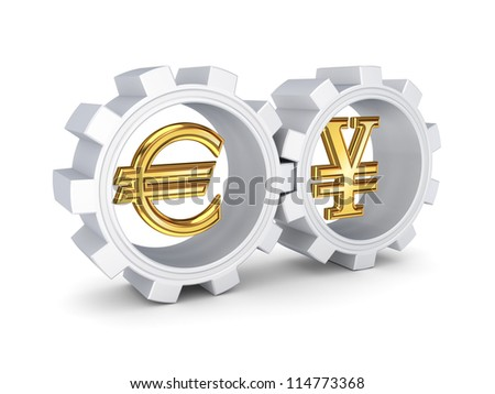 Forex concept.Isolated on white background.3d rendered.
