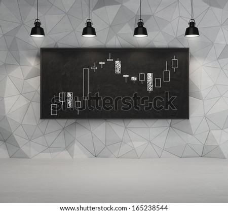 Forex graph - stock photo