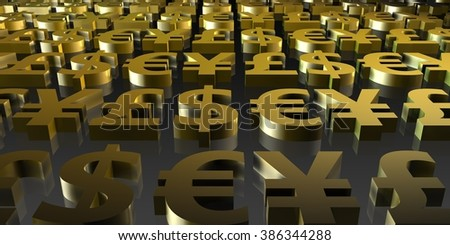 Forex or Foreign Exchange Investment Trading as Concept - stock photo
