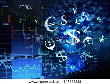 forex screen - stock photo