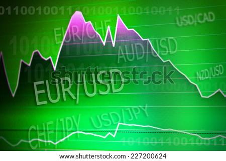 forex stock exchange - stock photo